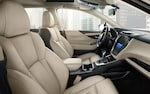 The expansive view of the interior of the 2022 Subaru Legacy.