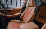 A photo illustration showing the heated and ventilated front seats on the 2022 Subaru Legacy Touring XT.