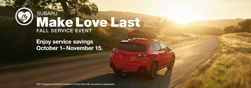 Subaru Make Love Last Fall Service Event in Boulder CO